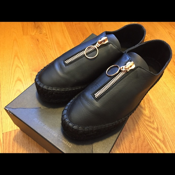 6de1005f125 Alexander Wang Shoes - Alexander Wang Devon Black Leather Shoes
